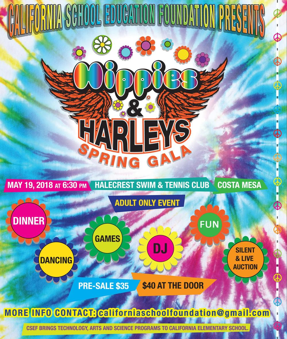 CSEF Hippies   Harleys Spring Gala Invitation