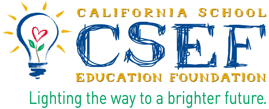 California School Education Foundation logo Lighting the way to a bright future.