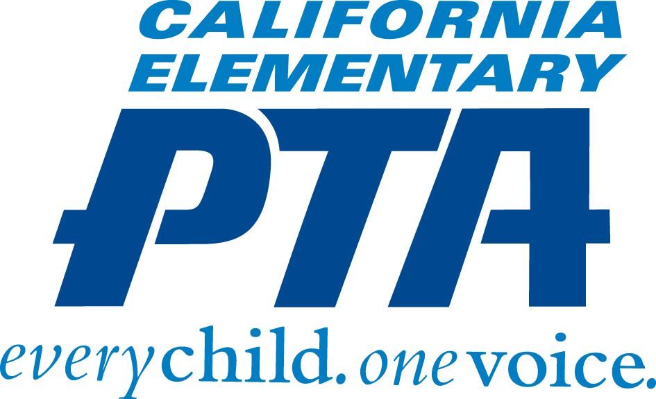 California Elementary PTA logo-every child. one voice.